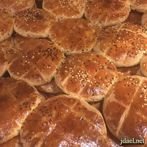 مخبوزات يمنية كعك يمني بالحبة السوداء والحليب السائل