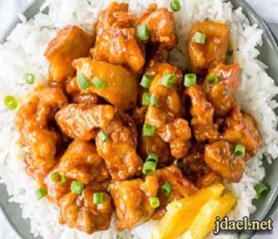 دجاج بصلصلة البرتقال المطبخ الصيني