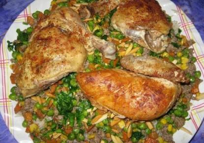 عمل أوزي الدجاج تحضير اوزي الدجاج