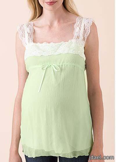بلايز حمل بحواف الكروشيه والدانتيل واحلى الموديلات للحامل