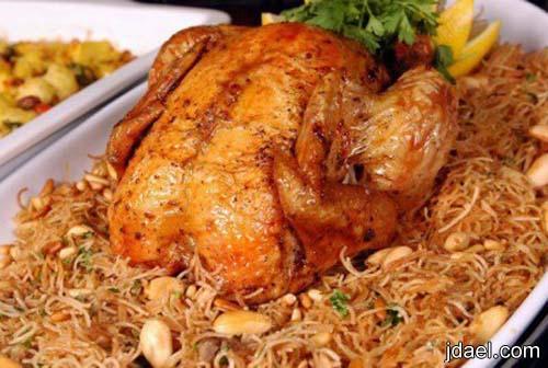 دجاج بحشوة الكبده والقوانص وخلطة الشعيريه