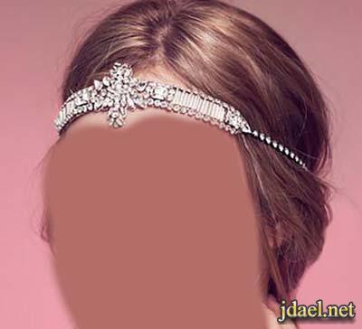 اطواق وتيجان العروسه الراقيه العصريه تصميم اسباني