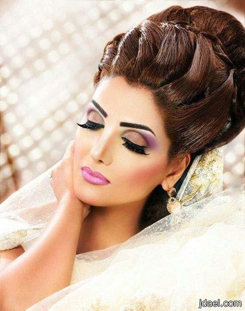 مكياج وتسريحات للعروسه لليلة الزفاف والخطوبه خبيرة التجميل صفاء السالكي