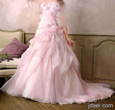 فساتين الزفاف للعروسه وروعة وفخامة الدانتيل المطرز والتل بموديلات مزركشه
