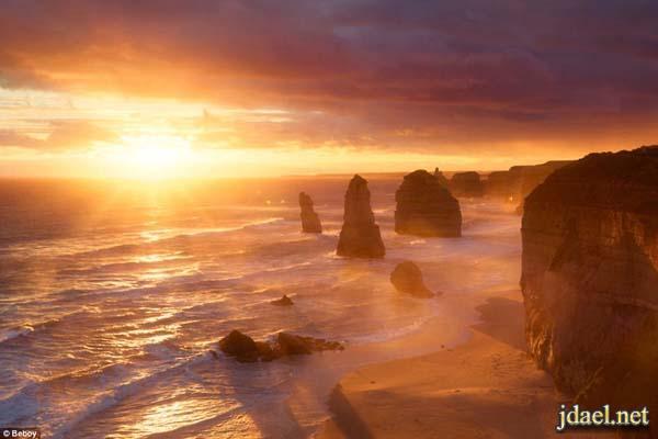 صورمناظر شروق الشمس والغروب لمصور عاشق تصوير الشمس