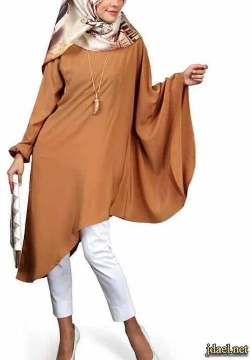 ملابس ساترة للمحجبات واحلى موديلات التنانير والبلايز الطويلة