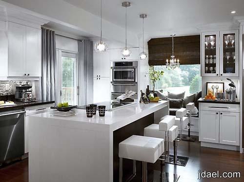 ديكور مطابخ كبيره وتصميم مطابخ للمساحه الصغيره بتصاميم راقيه لغرفة المطبخ