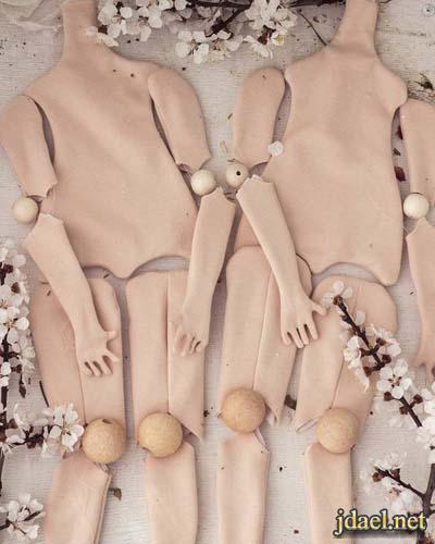 عمل جسم عروسة لعبة بالقماش وطريقة تركيب المفاصل والشعر