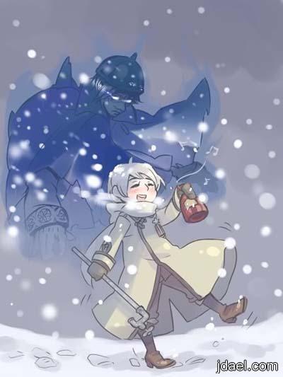 صور انمي حلوه تحت الثلج تواقيع وصور انمي رومانسيه ثلج