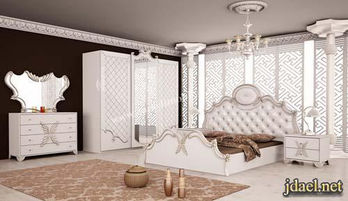 غرف نوم تركي باللون الابيض . ديكورات غرف نوم كلاسيك تركية   منتدى