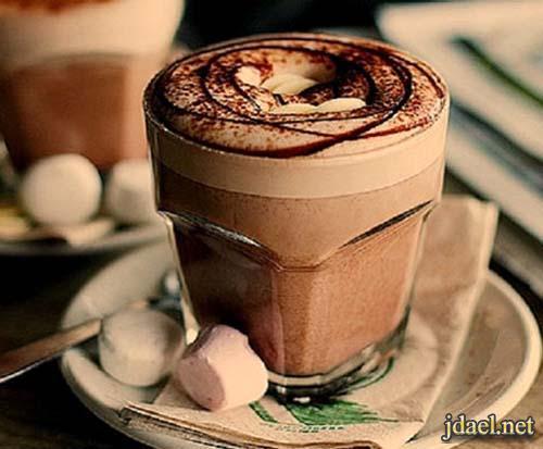 مشروب الشوكولاتة الساخن بزبدة الفول السوداني