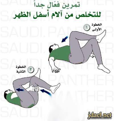 علاج الم اسفل الظهر بتمارين سهلة وفعالة