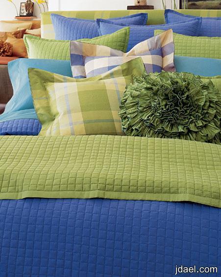 مفارش سرير 2013 بالالوان ديكورات واكسسوارات غرف النوم 2013