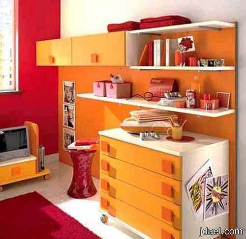 ديكور منازل 2013 مودرن بلون البرتقالي ديكورات بالوان الارونج