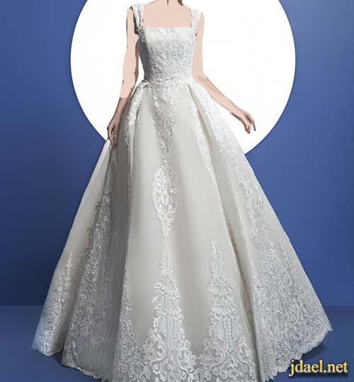 فساتين اعراس فخمة بالدانتيل وتور 2017 للعروسة الحالمة