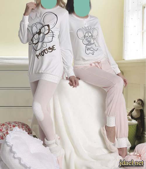 ملابس بيت ونوم بيجامات وقمصان قطن انيقة للبنات والسيدات والحوامل