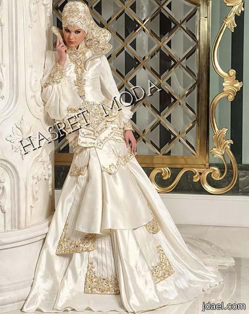 فساتين زفاف تركي محتشمه للعرايس المحجبات