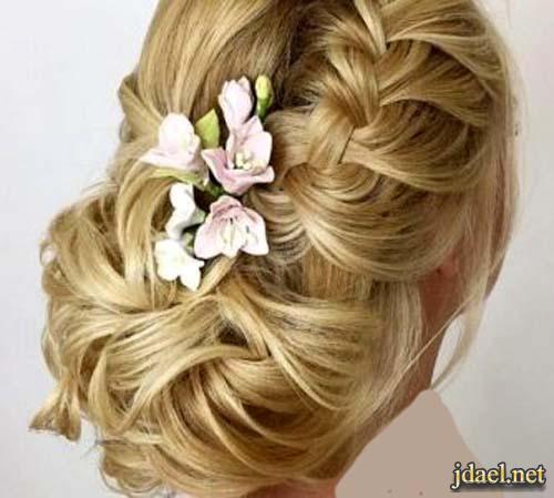 تسريحات شعر عرايس ليلة الزفاف تساريح الشعر جديدة للعروسة