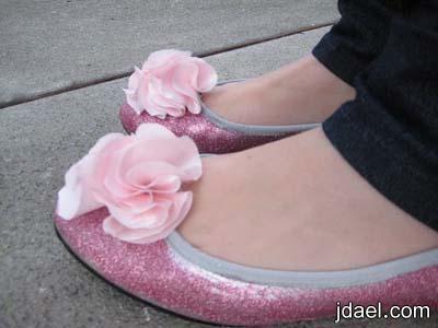 احلا فكره لتجديد الحذاء القديم بمادة جليتر بالصور