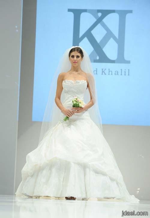 5aa5f10d145e1 فساتين للعروسه باحدث الموديلات الجديده للمصمم خالد خليل 2013 - منتدى ...
