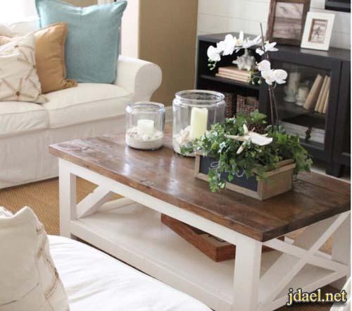 تصاميم طاولات القهوة منوعة وعملية وفي غاية الجمال