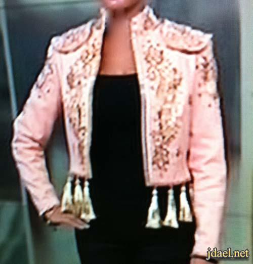 جاكيتات تطريز ترتر للفساتين الساده والجينز تصميم ليال مكارم
