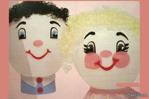 متعة التزيين للبالونات بشكل الوجوه الضاحكة اولادك اطفالك