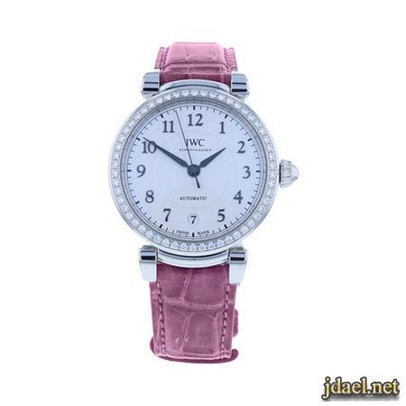 موديلات ساعات نسائية بتدرج اللون الزهري للبنات
