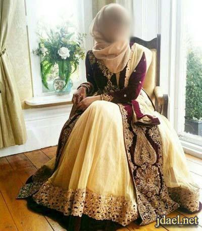 فساتين انستقرام للمحجبات ملابس حجاب سواريه وكاجول