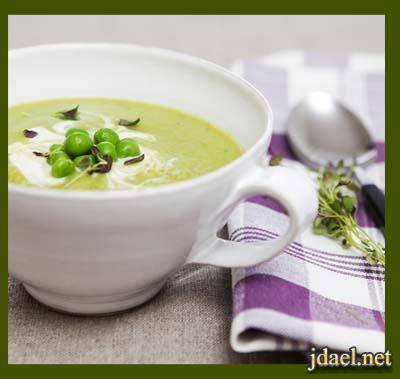 شوربة بازلاء بمرق الخضار حساء البسلة بطعم مميز رمضان