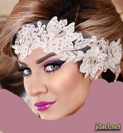 تسريحات شعر ومكياج عرايس ليلة الزفاف