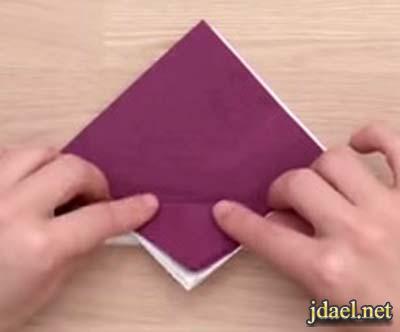 مهارات يدويه وتطبيق مناديل الورق بتصميم النخله بالصور