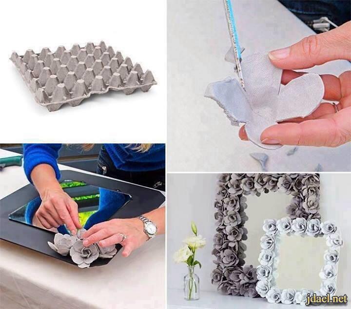 طريقة تزيين المرايا بمواد غير مكلفة