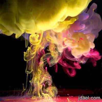 صور مدهشه لاجمل فنون الرسم بالحبر بداخل الماء للفنان مارك