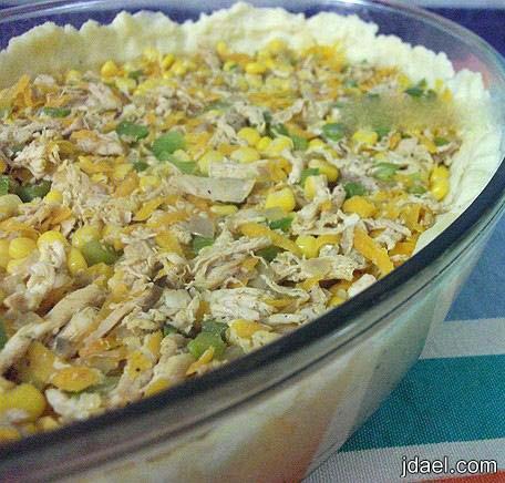 طبخ صينية البطاطس بطبقات جبنة الشدر والباشاميل بالفرن وبالصور
