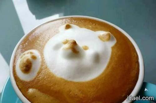 رغوه ثلاثية الابعاد تميز اكواب قهوة الكابتشينو باجمل الفنيات والابداع