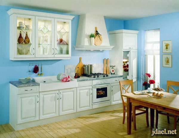 ديكورات مطابخ خشب راقيه بالوان وتصاميم عصريه