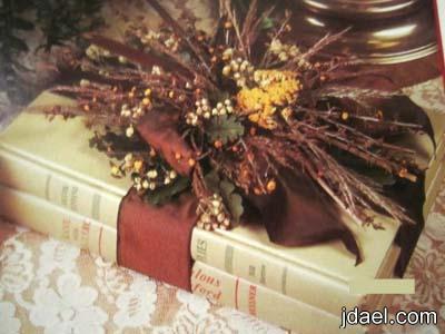 الورد المجفف تزين الكتب