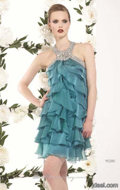 احدث ازياء السهرات موديلات جديده الفساتين المطرزه بتطريز منوع
