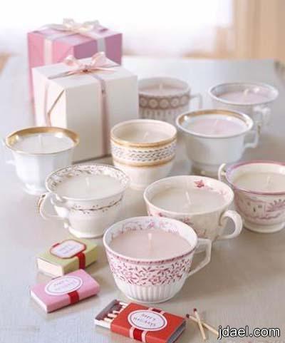 اجمل تزيين لفناجيل القهوه واكواب الشاي اعمال يدويه روعه