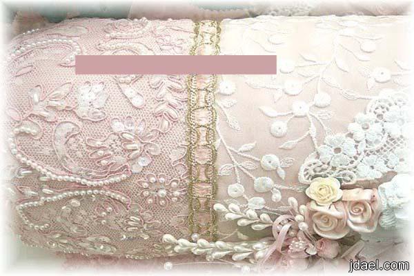 طرزي اغراض غرفتك بتطريز خيال على قماش التل او الدانتيل