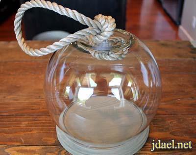 اكسسوارمنزلي بروعة الاشغال اليدويه بتصميم قوارير الزجاج