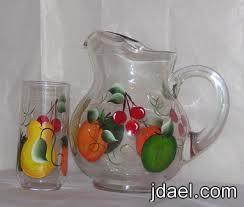 لمسات فنية الرسم على الزجاج