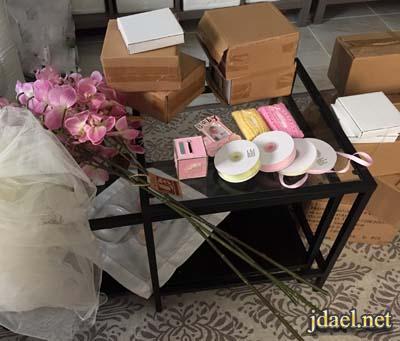 تجهيز غرفة النفاس وتوزيعات وهدايا وباقات ورد للاستقبال بالصور