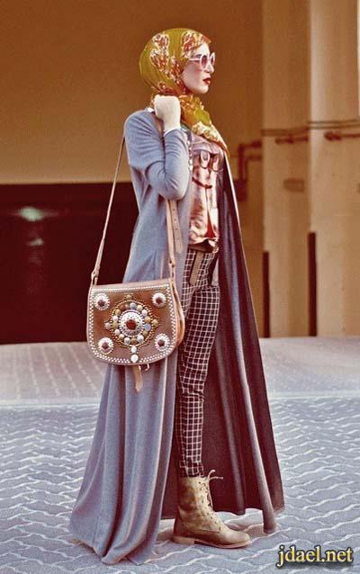 فساتين عبايات حجاب وتنانير واحلى الملابس البوهيمية للمحجبات
