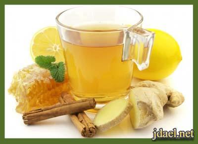 شاي الزنجبيل بالقرفه علاج لنزلات البرد والزكام والرشح