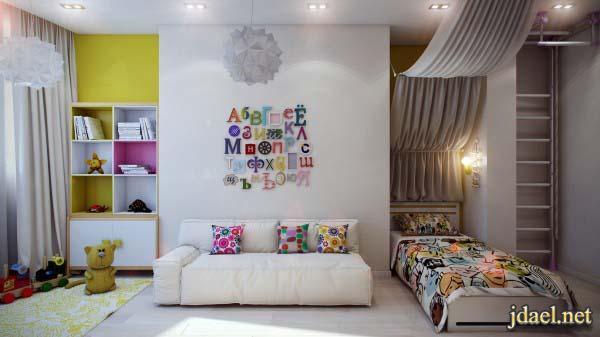 ديكور غرف نوم اطفال بافكار ذكيه لترتيب احتياج الطفل