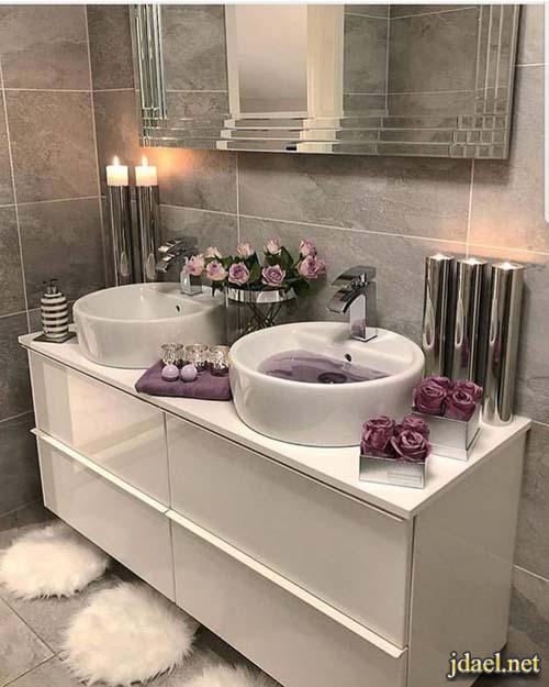 ديكور مغاسل حمامات بورسلان رخام سراميك للبيوت الكبيرة الفخمة