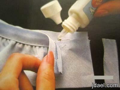 تركيب الشريط الموروب والكالون المزموم لغطاء السرير