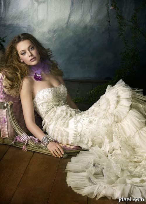 d972d15bfb2b6 تصاميم عاليه لفستان العروسه الاورجانزا والتفته المطرزه فساتين عرائس مشكوكه